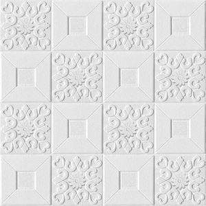 10pcs 3D-Stereo-Wandaufkleber selbstklebende Decke dekorative Aufkleber Wohnzimmer Schlafzimmer wasserdichte Tapete Schaum Tapete