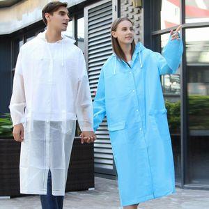 Waterproof Rain Poncho Coat Adult Clear Transparent Camping Hoodie Rainwear Suit Fashion Women Man Raincoat Thickened #@