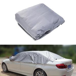 Universal Half Body Car Cover Vêtements moitié voiture neige glace imperméable Sun UV pluie Shade Couverture extérieure Protecteur pour 5 voitures Seat