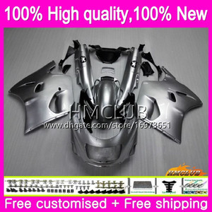 Body For KAWASAKI ZX-11R ZZR 1100 CC ZX11R 93 94 95 96 97 52HM.15 ZZR1100 ZZR-1100 ZX 11R 1993 1994 1995 1996 1997 Gloss silver Fairing kit