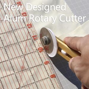 taglio rotante DUOFEN alluminio 45 millimetri Quilters cucire Quilting Tessuto taglio Craft Strumento tenuta regolabile