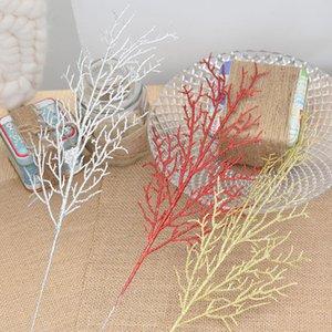 Umweltfreundliche 10pcs / Lot 13 * 40cm Weihnachtsblumen-Blätter Baum Kranz künstlicher Niederl Reisig Einzigartige Home Living Room Decor Crafts