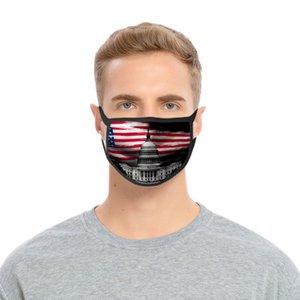 Máscara de plata Usa Día de la Independencia para las máscaras de las señoras de Niños con tapabocas lavable poliéster plata Usa hotclipper vcGVC