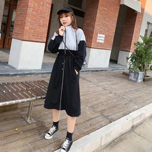 Yeni 2019 Günlük Kadınlar Yağ Hareketi Kim Elbise Saf Pamuk Ve Rahat Bel Flesh Elbise 258 Alma
