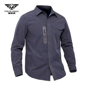 Spring and summer tactical quick drying shirt fan shirt ventilation button