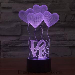Cambiar la noche las luces del color moderna simple dormitorio de noche luz de la noche creativa coloreado brillante decoración de la tabla de la lámpara de la noche del regalo de cumpleaños