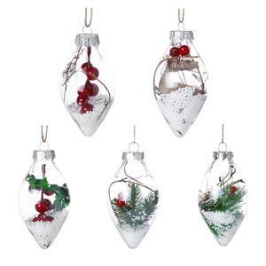 Christmas Tree Pendant DIY Paintable Shatterproof Clear Christmas Ball Christmas Decoration Hanging Transparent Ornament