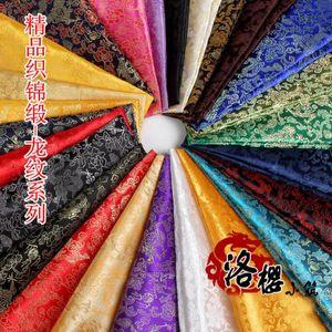 Costume antico cinese Han Kimono Abbigliamento COS Baby Satin Damasco jacquard tessuto broccato Dragon Veins