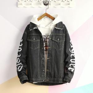 Mens Hip Jeans Herren-Jacken-Mantel Denim Trucker Jacket Wear Resistant Unlined Denim asiatische Größe M-2XL