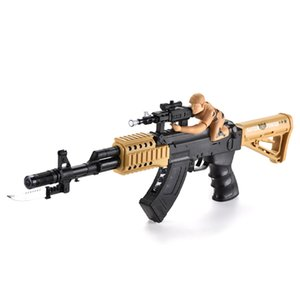 TW2004005 Soldier vibration gun with Colorful Light Electric Sound Simulated Gunshot Stretch and Vibration Rifle Shape
