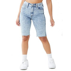 Woman Jeans Pants Boyfriend High Waist Large Size Jeans Ladies Casual Patchwork Ripped Frayed Keen Length Denim Pencil Pants