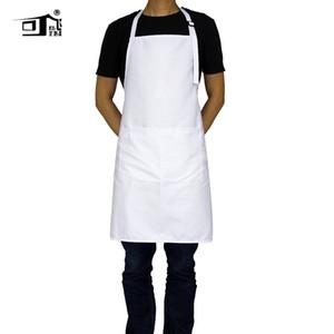 Kefei Grembiuli originali per donna Chef Grembiule personalizzato Grembiuli collo regolabile con 2 tasche 10 colori lungo grembiule bianco
