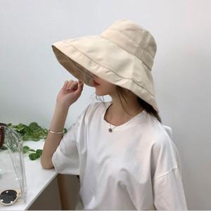 Новая Мода 4 Цвета Ms Womne Летние Пляжные Шапки Козырек Широкий Брим Рыбака Шляпа Женщины Повседневная Хлопок Белье Обычная Шляпа