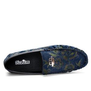 2019 Makosenler Moda Bölünmüş Deri Erkek Ayakkabı Yeni Trend Örgün İş Gelinlik Ayakkabı Drop Shipping üzerinde Casual Kayma