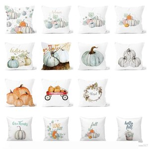 Pumpkin Pillow case Autumn Leaves Pillow cover Sofa Throw Cushion Covers Cases for Halloween Thanksgiving Home Decoration
