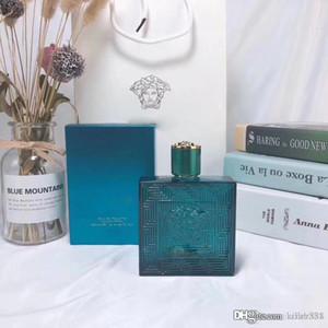 Parfum classique pour les hommes Eros Cologne 100ml 3.4Us Floz EDT Aromatique Fougère Bouteille en verre bleu Special Design Nouveau dans la boîte Livraison gratuite