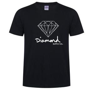 Nouveau été en coton Hommes T-shirts Mode manches courtes imprimé Diamond Supply Co T-shirts Hauts pour hommes Skate Hip Hop Vêtements de sport