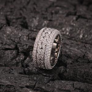 Хип-хоп Шику замороженный вне цирконий CZ кольцо для мужчин женщин блесны кубинская цепь вокруг кольца партии ювелирных изделий