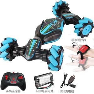 GF Gesto remoto de coches de juguete de control del truco, 4WD 12-forma generalizada, 360 ° Flip, cangrejo Run Salvajemente, Luces de música, la simulación de sonido del coche, regalo del cabrito, 2-1