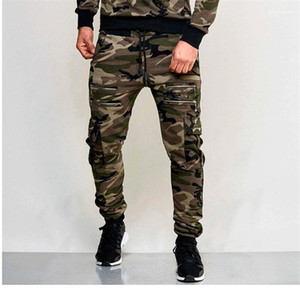 Erkek Pantolonları Moda Kamuflaj Renkleri Spor Kalem Pantalones Jogger Erkek Sweatpants Slim Fit 2020ss Pantolon Loose