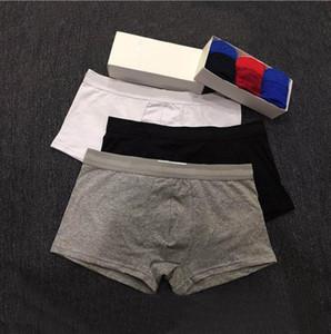 Baumwolle Herren-Unterwäsche Boxer-Unterhosen Shorts Männer Unterwäsche elastische breite Gürtel Männer Underpant Fest Baumwolschlüpfer Modell Boxershorts