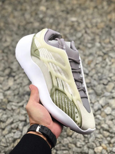 700 V3 Luminous Grey Kanye West tênis de basquete 3M OG Brilho In Dark Designer de Moda Athoetic Sports Correndo Sneakers