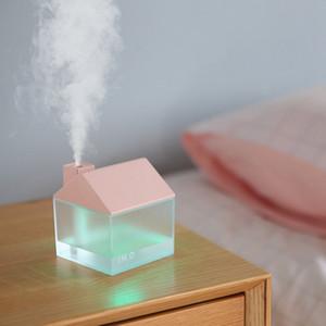 Humidificador de vapor con USB Ventilador USB del LED para el dormitorio del bebé ultrasónico premium Mini humidificador de aire difusores sin agua de apagado automático RRA2823