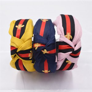 Art und Weise Frauen Haarband Striped Bee Stirnband für Erwachsene Bands drucken Haar-Zusätze 13 Arten Spitzenqualität