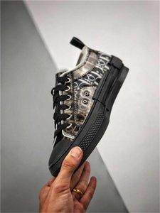 New 19FW B23 Oblique Alta Baixa Sneakers plataforma do vintage Mens Leather Obliques Técnicas sapatas das mulheres Moda Trainers