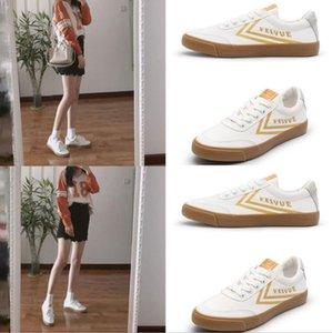 2019 Nuevo Unisex Zapatillas Casual Shoes Moda Hombres Mujeres Low Cut Lace Up Lienzo Zapatillas Blancas Zapatillas Deportivas Al Aire Libre 35-44