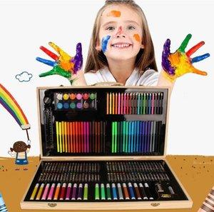 150/180/208 Colores cepillo de Color de agua herramientas de pintura para niños pincel de madera suministros de pintura de estudio móvil artesanías regalos HA339