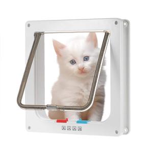 Cat Flap Door Door Magnetic Pet impermeável com Door 4 Way Dog Locking Grande gato pequeno Interior Weather-Resistant