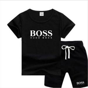 Abbigliamento per ragazzi e ragazze di sport del vestito del bambino infantili di stile la nuova vendita calda di Short vestiti manica Bambini Set 2-7 Età