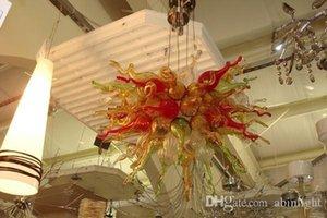 Art Deco Glass Material del LED de la lámpara de luz multicolor de cristal de Murano soplado lámparas pendientes de Home Hotel Bar Oficina Decoración