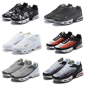 2019 Plus III 3 TN para hombre desig TUNED Airs zapatos corrientes de aire clásico tn Negro Blanco Deporte choque zapatillas de deporte de los hombres araña azul requin