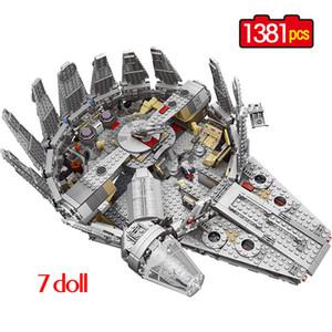 1381Pcs Kuvvet Uyanıyor Yıldız Seti Savaşları Çocuklar, çocuk hediye T200327 için Millenium 79211 Falcon Model Yapı Taşları Oyuncak legoing için