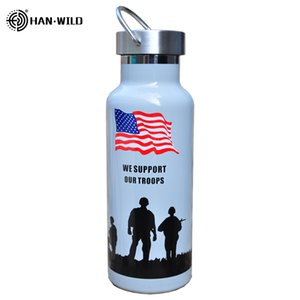 Hot 500ml Military Sports Bottles Insulated Auto Vacuum Flask Thermos Cup Stainless Steel Water Bottle Travel Mug Climbing