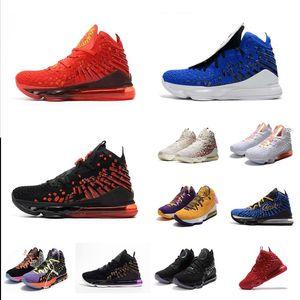 رجل جيمس ليبرون 17 أحذية كرة السلة الأسود الأشعة تحت الحمراء الأحمر ولدت والخمسات الأزرق Anthlete عيد الميلاد جديدة 2k19 Lebrons 17S أحذية رياضية الأحذية مع مربع