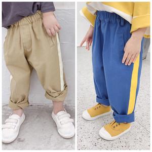 2019 Sonbahar Yürüyor Boys 'Pantolon Yeni Cep Kargo PantolonÇocuk Rahat Tulumları Pamuk Kore Giysileri Bebek Çocuk Pantolon 1-5 T