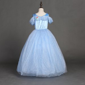 아기 소녀 아이 키즈 파티 웨딩 공주 코스프레 드레스 나비 쇳조각 신데렐라 드레스 6 층 할로윈 coaplay 의상 M183