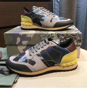 [caixa original] da forma da rocha em execução sapatos camuflagem couro casuais sapatos esportes rocha camuflagem corredor dos homens ao ar livre dos homens de diamante esportes