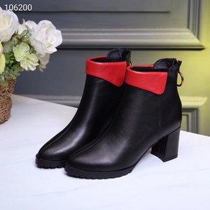 Sıcak Satış kadınların kalite tasarımı hakiki deri kısa botlar siyah topuklu ayakkabı ofis bayan rahat sivri burun çizme seksi kalın topuk 35-40 # C11