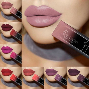 21 Farbe Lippenstift Wasserdicht rote Lippen Long Lasting Make-up Metallic Gloss Make Up Nude Lip Stick Matte Lippenstift