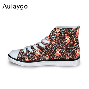 Aulaygo Toddler Students Sneakers Cute Tropical Rain Forest Animals Pattern Kids Canvas Flats Shoes for Girls Boys School Sports