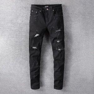2020 designer jeans men's summer fashion stretch slim straight jeans denim trend men's casual pants wholesale-2
