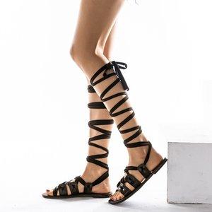 Women's Summer Gladiator Sandals Women High Heel Dress Shoes Flat Sandals Chaussures Femme Sandalias De Verano Para Mujer Sapatos Mulher