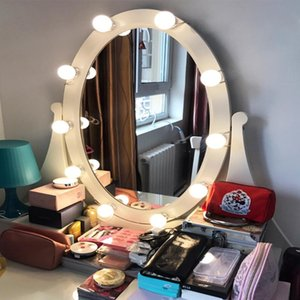 10 LED Bulb Vanity Makeup Mirror LED Light Bulbs Kit Cosmetic Make Up Mirrors Bulb Adjustable Brightness Dresser Lamp Set