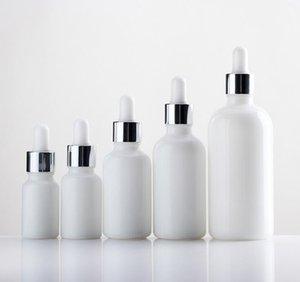5ml 10ml 20ml 30ml 50ml Esansiyel Yağı Doldurulabilir Şişe SN581 için İnci Beyaz Cam Damlalık Şişe Parfüm Numune Tüpler