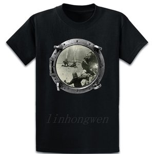 Vintage Treasure Divers Salvaging Gold Bars T Shirt Cute Tee Shirt Create Vintage Streetwear Spring Autumn Funny Round Neck