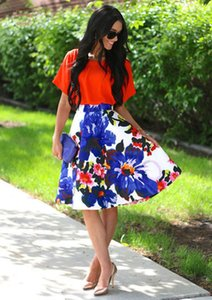 Women Ladies Floral Print Mini Skirt Empire Pleated Skirt Fashion Short Skirts Vintage Elegant Women Clothes